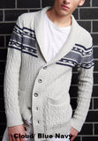 Chest Fair Isle Shawl Collar Cardigan