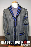 Houndstooth Shawl Collar Cardigan