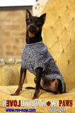 Mixed Cable Paws Roll Neck Sweater