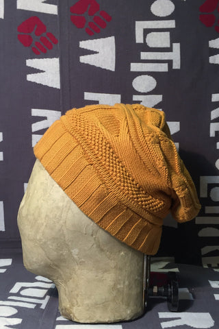 Mixed Novelty Stitch Knit Hat