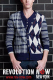Mixed Pattern Cardigan