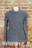 Marled Ribbed Polo Sweater Shirt