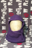 Wool Knitted Hood with Button Closure