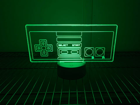 Image of Nintendo Controller Inspired Color Changing Acrylic Sign
