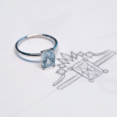 Aquamarine ring r 073-purplemay jewellery