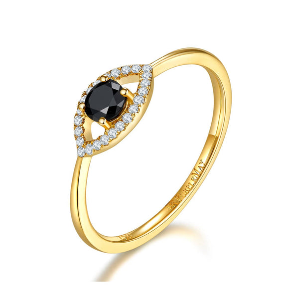 18k Solid Gold Evil Eye Black Onyx Ring | Rings Melbourne Australia