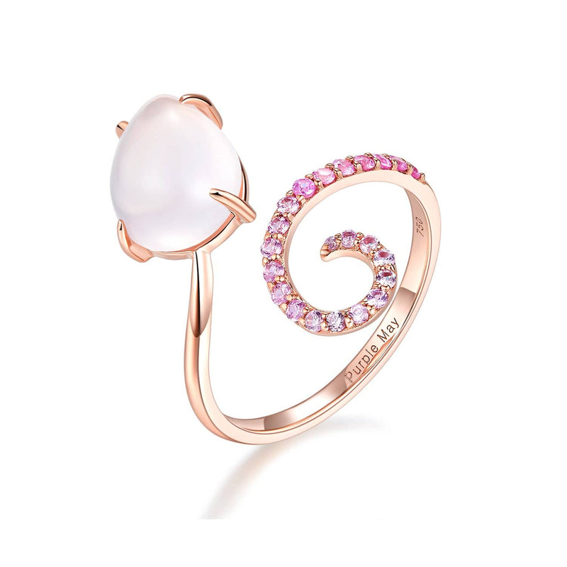 18k Solid Gold Pink Sapphire and Quartz Ring - Melbourne, Australia