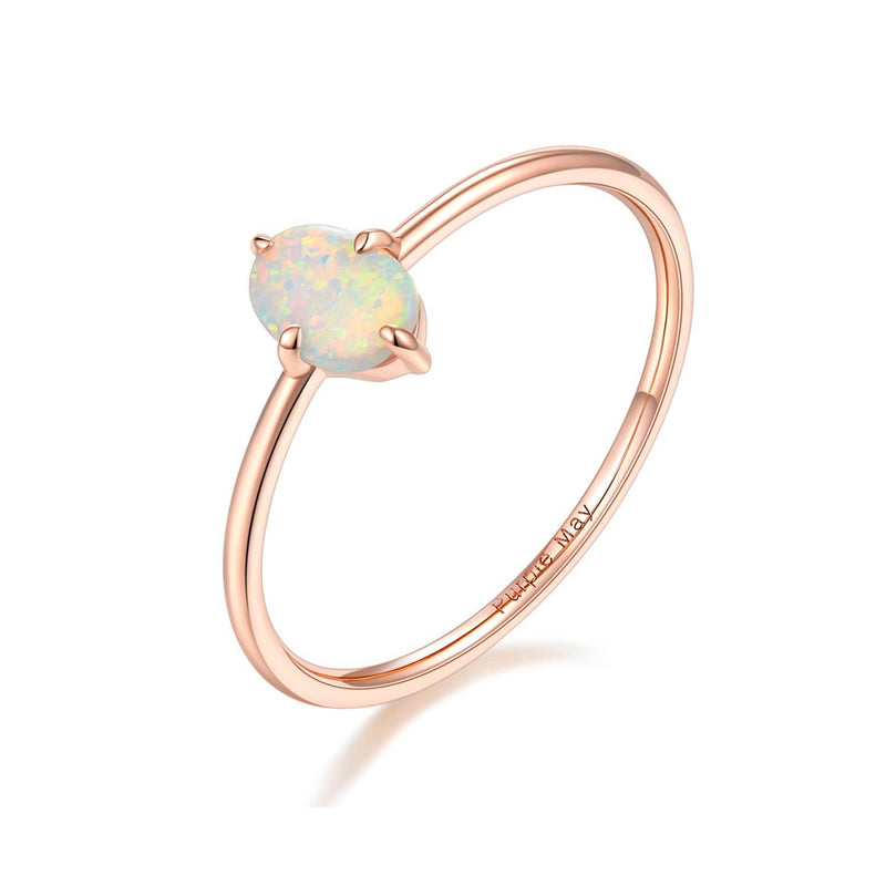Rose Gold Opal Ring Melbourne | Wedding Rings Australia