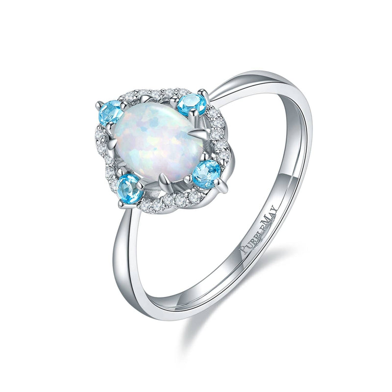 18k Solid Gold Vintage Opal and Topaz Diamond Ring | Rings Melbourne Australia