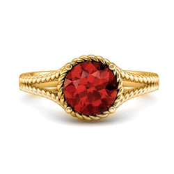 18K SOLID GOLD GARNET STATEMENT RING - Melbourne Australia