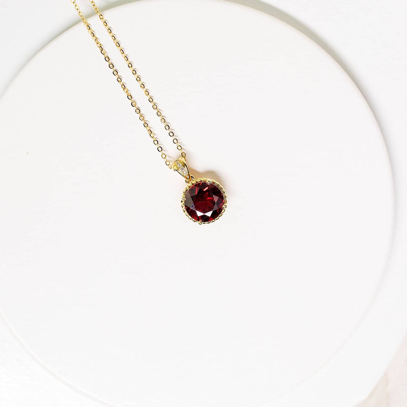 18K SOLID GOLD GARNET NECKLACE - Melbourne, Australia