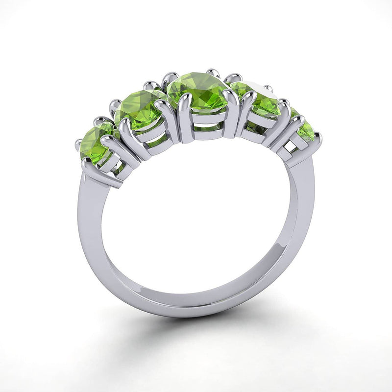 18k Solid Gold Half Band Peridot Wedding Ring | Rings Melbourne Australia