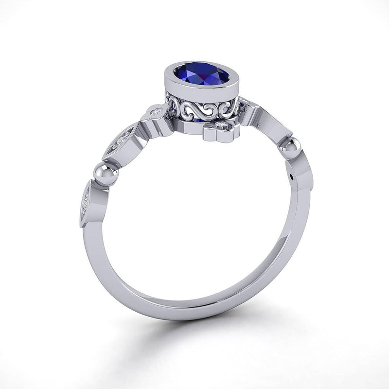 Browse Diamond Bezel Engagement Rings Australia | Gloaming | Rings Melbourne Australia