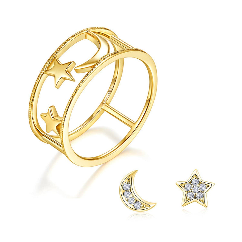 Moon & Star Gift Set | Rings