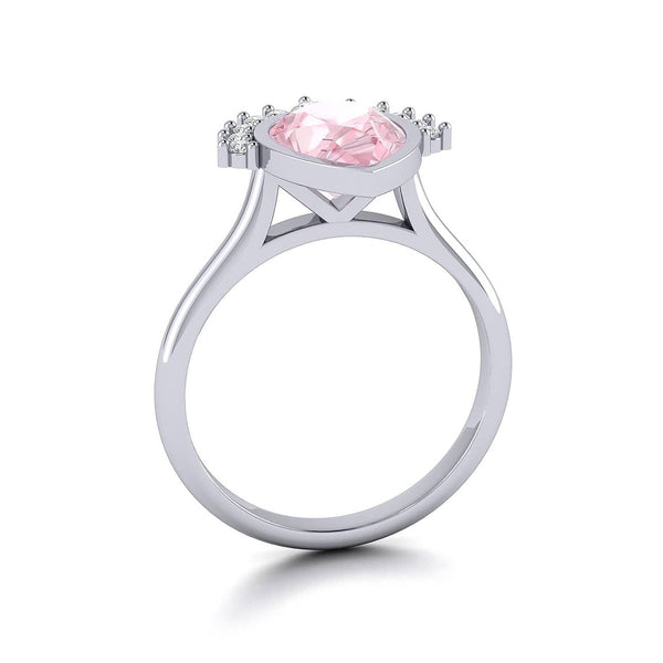 Morganite & Diamond Engagement Ring Melbourne, Australia | Masquerade