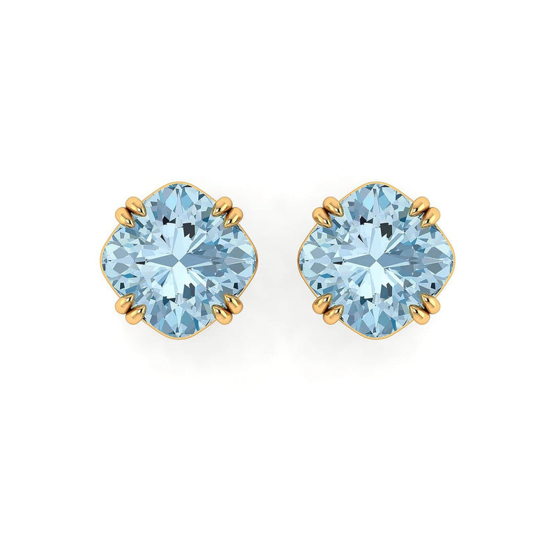 18K SOLID GOLD TOPAZ STATEMENT EARRINGS  - Melbourne, Australia