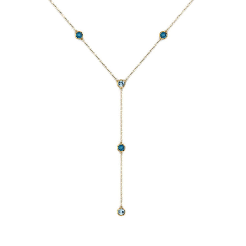 18K SOLID GOLD TOPAZ NECKLACE - Melbourne, Australia