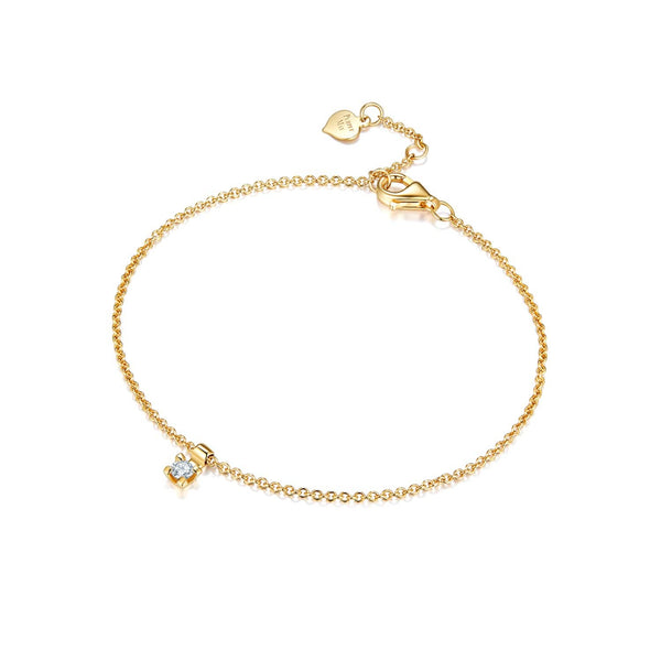 18k Solid Gold One Diamond Bracelet - Melbourne, Australia