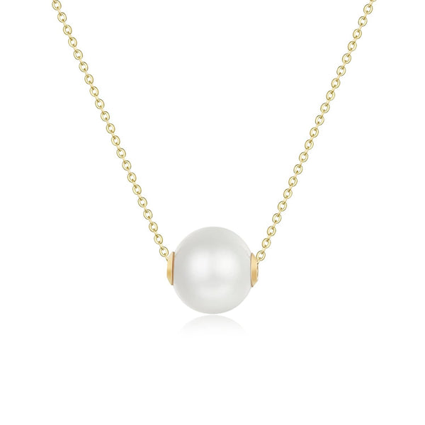18k Solid Gold 9mm Akoya Pearl Necklace - Melbourne, Australia