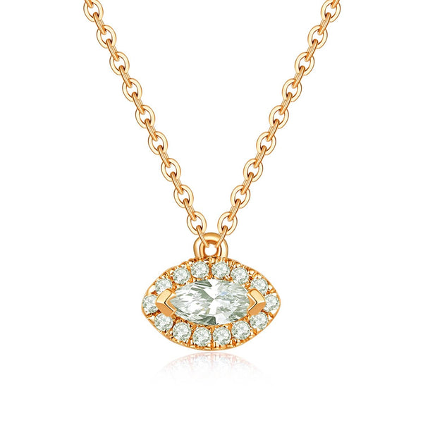 18k Solid Gold Evil Eye Motif Diamond Necklace - Melbourne, Australia