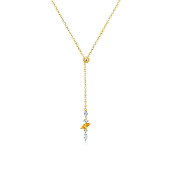 18k Solid Gold Marquise Sapphire and Diamond Necklace - Melbourne, Australia