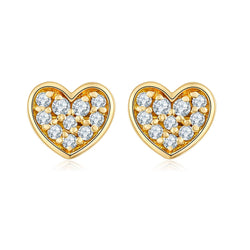 Heart Shape Diamond Stud Earrings - Melbourne, Australia