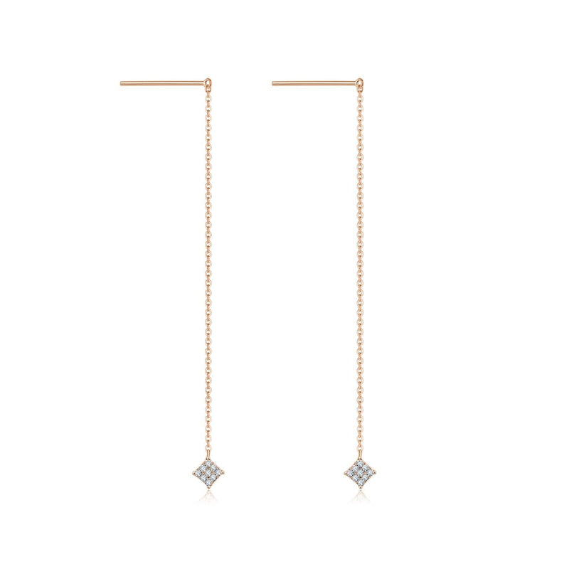 Rhombus Diamond Drop Earrings - Melbourne, Australia