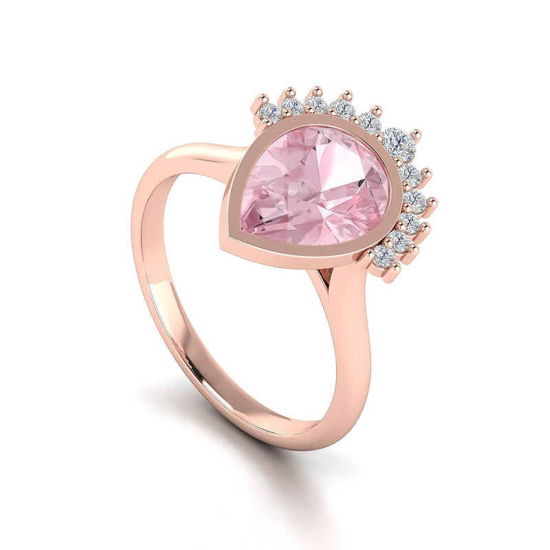 Buy Morganite & Diamond Engagement Ring in Melbourne, Australia | Masquerade