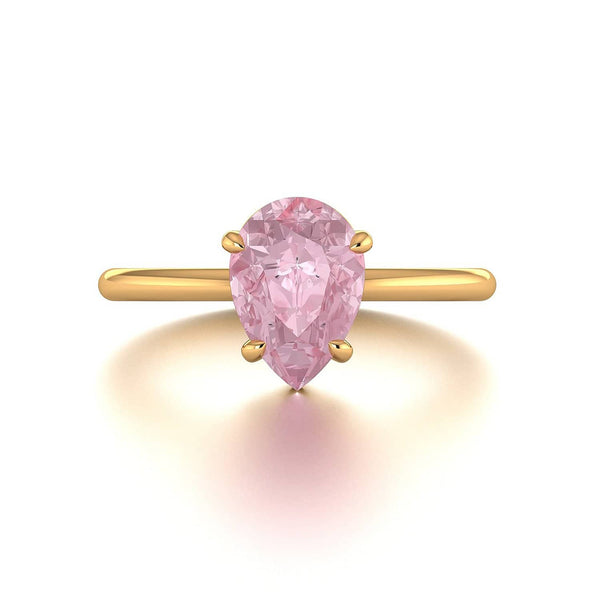 18k Solid Gold 1.5ct Pink Morganite Engagement Ring Set - Melbourne, Australia