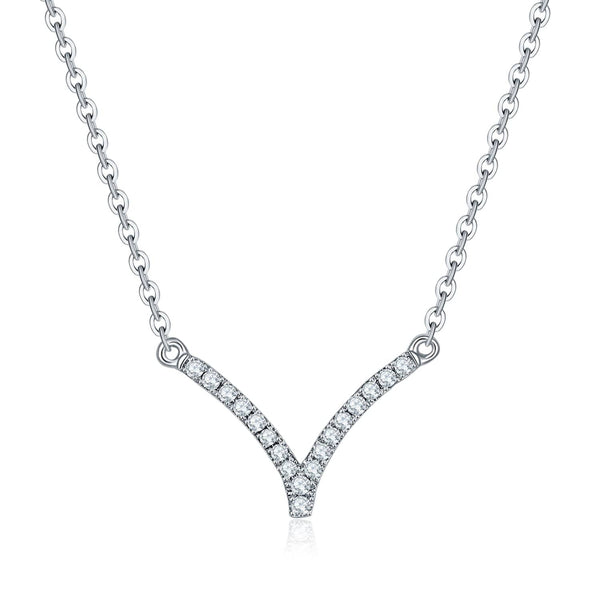 18k Solid Gold Elegant Chevron Diamond Necklace - Melbourne, Australia