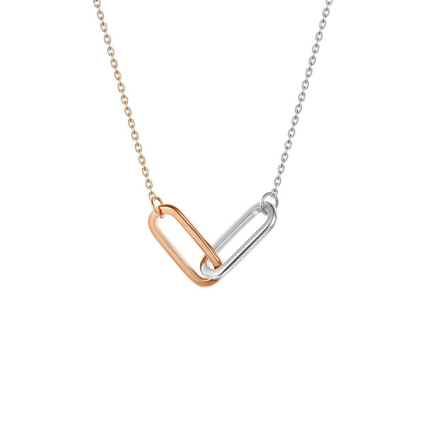 18K SOLID GOLD DOUBLE CLIP NECKLACE - Melbourne, Australia