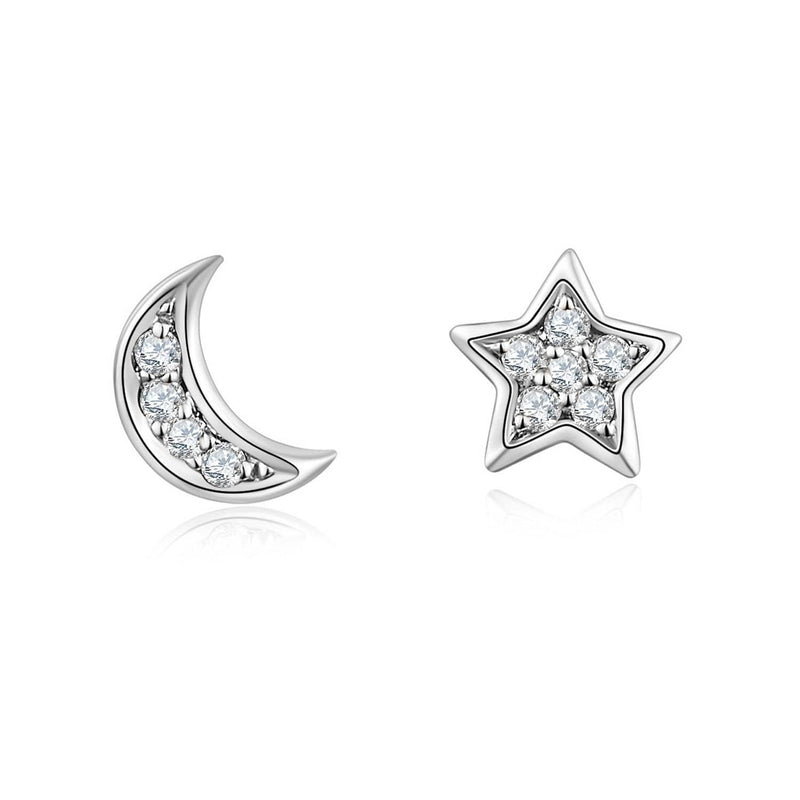 Gold & Diamond Star & Moon Stud Earrings - Melbourne, Australia