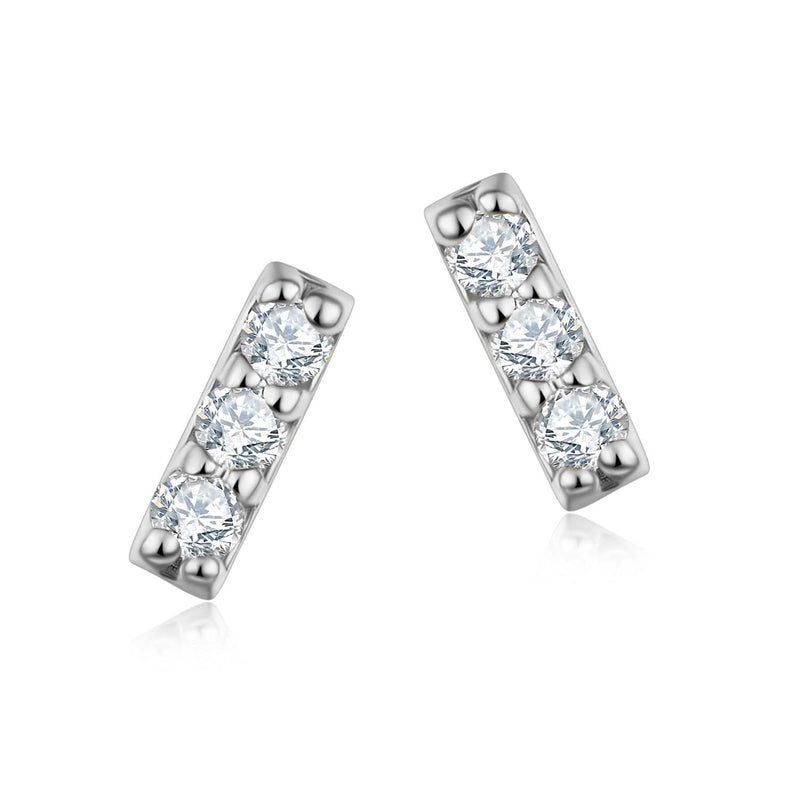 18K Solid Gold Diamond Stud Earrings - Melbourne, Australia