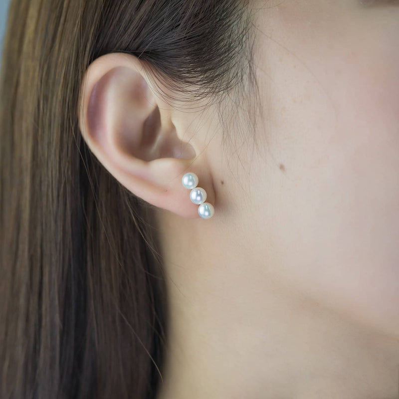 Triple Pearl Stud Earrings - Melbourne, Australia