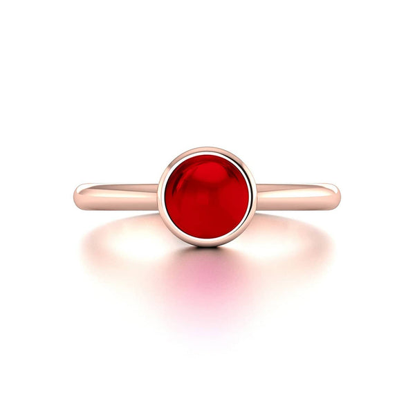 18K SOLID GOLD GARNET STACKABLE RING - Melbourne, Australia