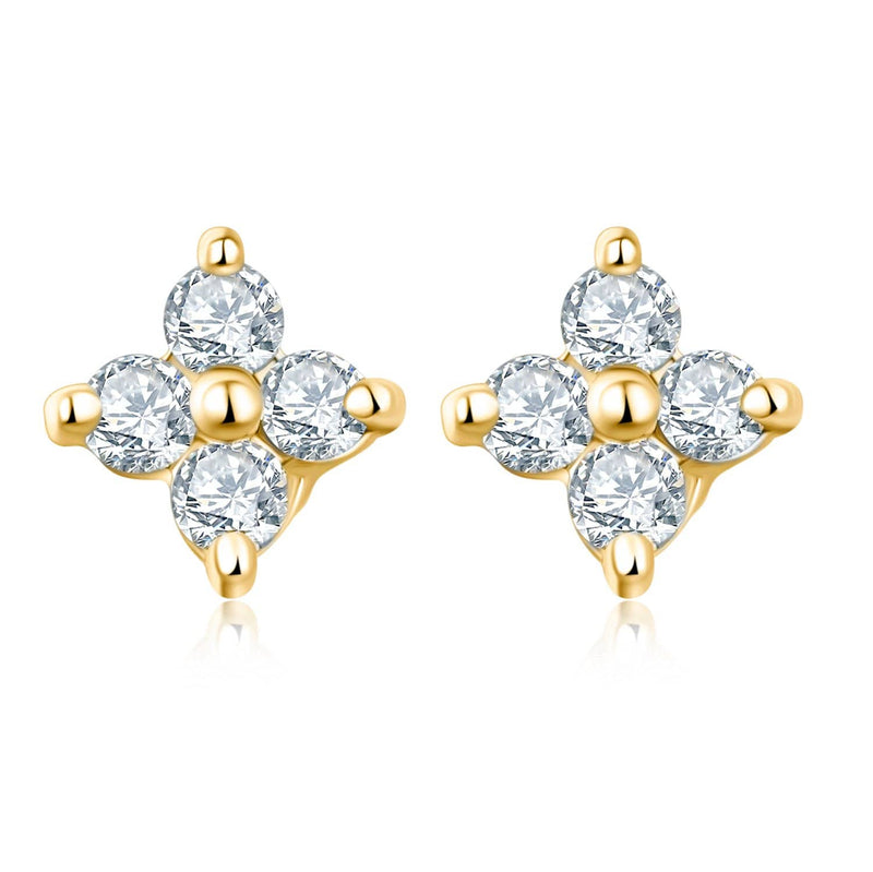 Clover Diamond or Sapphire Stud Earrings - Melbourne, Australia