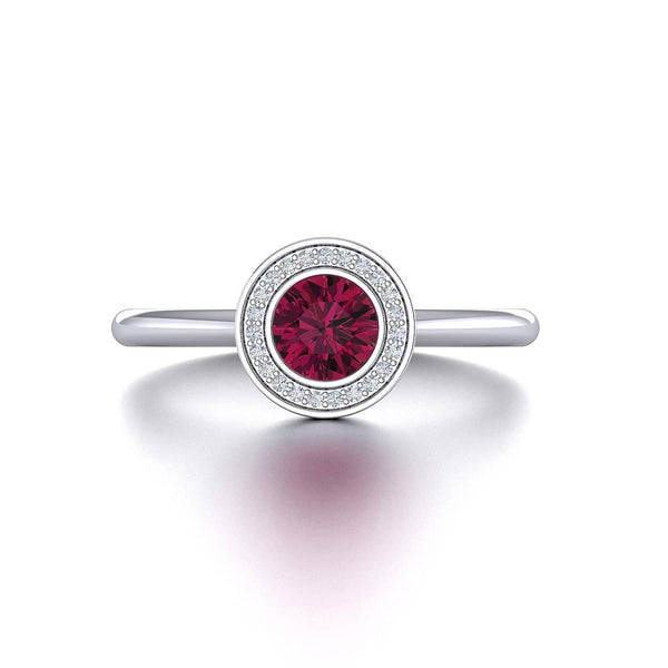 18K SOLID GOLD RED TOURMALINE ENGAGEMENT RING - Melbourne, Australia