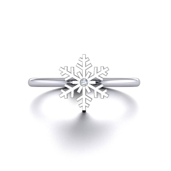 CHRISTMAS 18K SOLID GOLD SNOWFLAKE STATEMENT RING - Melbourne, Australia
