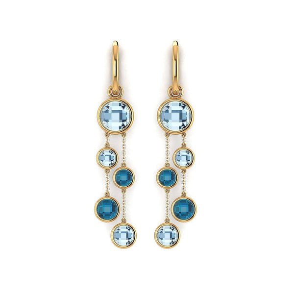 18K SOLID GOLD TOPAZ EARRINGS -Melbourne, Australia