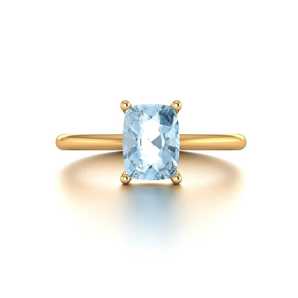 18k Solid Gold 1.5ct Aquamarine Ring - Melbourne, Australia