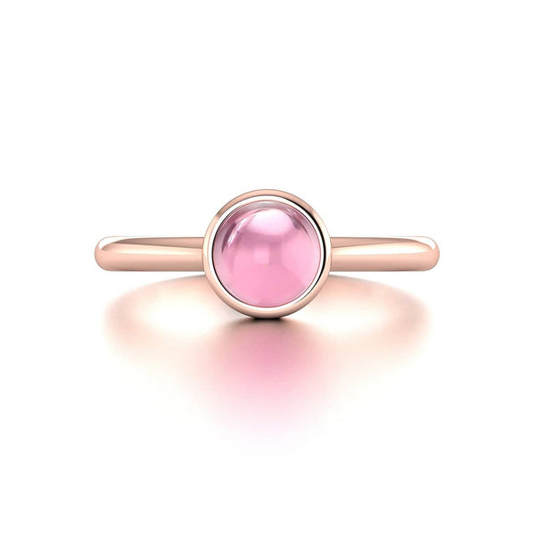18K SOLID GOLD PINK TOURMALINE ENGAGEMENT RING - Melbourne, Australia