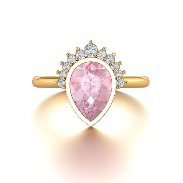 Pink Morganite Engagement Rings Melbourne, Australia | Masquerade