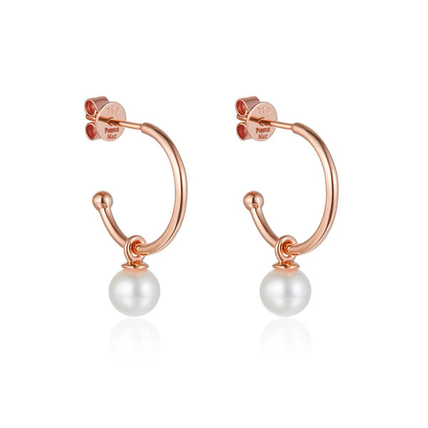 Pearl Stud Hoop Earrings - Melbourne, Australia
