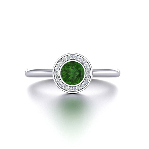 18K SOLID GOLD GREEN TOURMALINE ENGAGEMENT RING - Melbourne, Australia