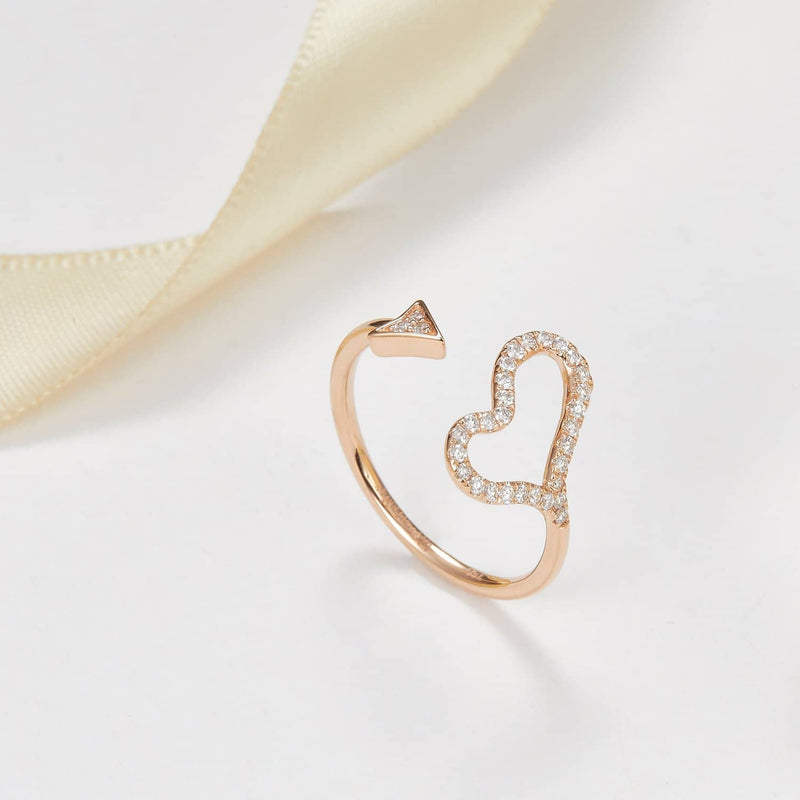 18k Solid Gold Cupid Heart Diamond Ring | Rings Melbourne Australia