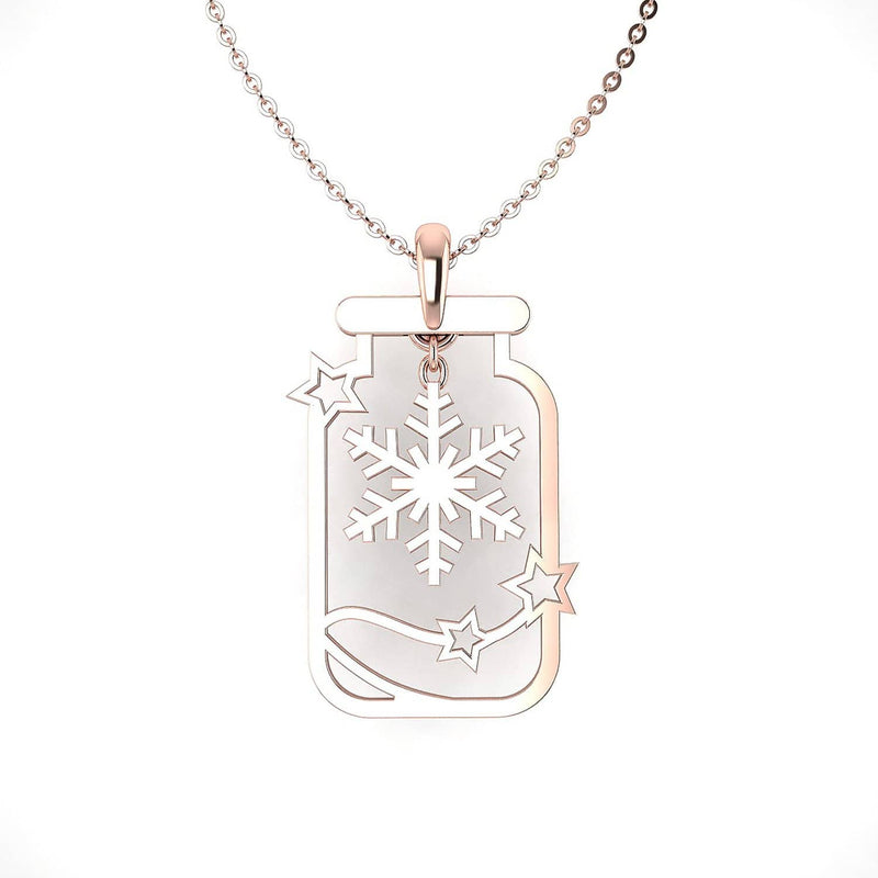 CHRISTMAS 18K SOLID GOLD SEPARABLE WISH BOTTLE NECKLACE - Melbourne, Australia