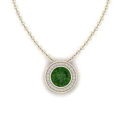 18K SOLID GOLD GREEN TOURMALINE NECKLACE - Melbourne, Australia