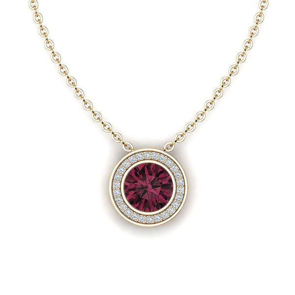 18K SOLID GOLD RED TOURMALINE NECKLACE - Melbourne, Australia