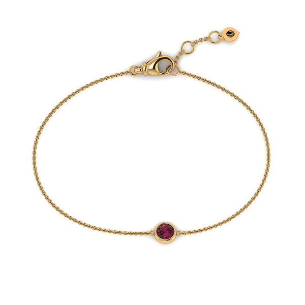 18K SOLID GOLD RED TOURMALINE BRACELET - Melbourne, Australia