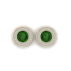 18K SOLID GOLD GREEN TOURMALINE EARRINGS - Melbourne, Australia